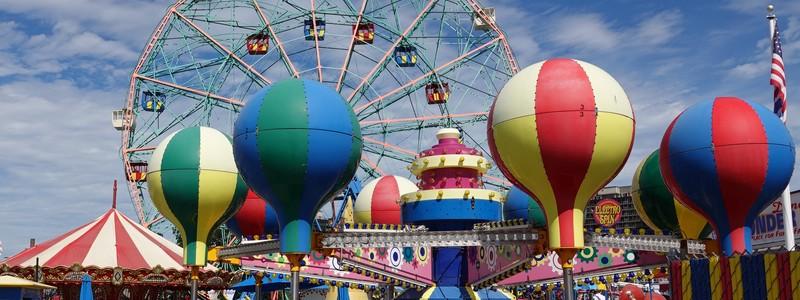 Un samedi à Coney Island, au Lunapark et à laplage