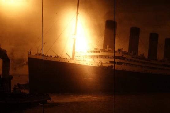 Southampton - Sea City Museum - Expo sur le Titanic, photo d'époque