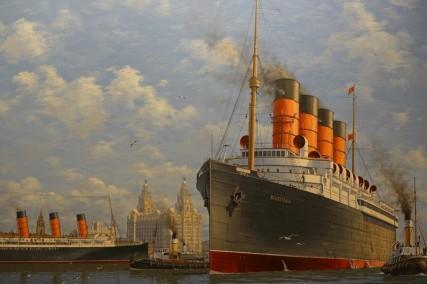 Queen Mary 2 - Intérieur - Un des nombreux tableaux qui ornent les murs...