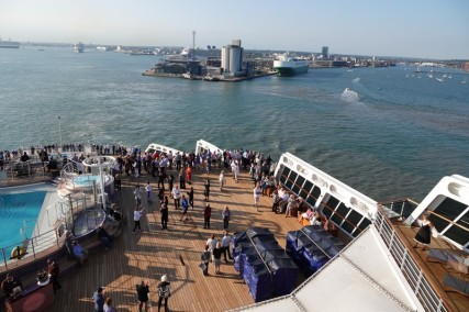 Queen Mary 2 - Départ de Southampton