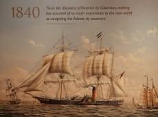 Queen Mary 2 - Les tableaux et décorations rappellent la grande époqiue des liners transatlantiques