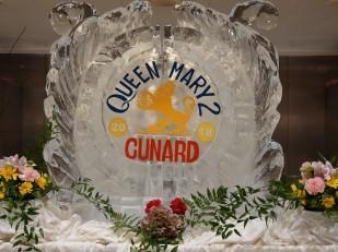 Queen Mary 2 - Restaurant Buffet Kings Court - Glace sculptée