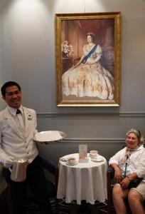 Queen Mary 2 - Cérémonie du thé dans la Queens Room