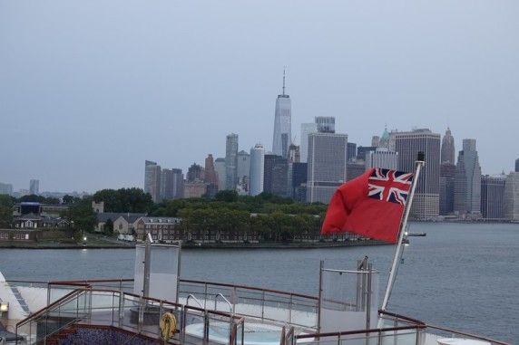 Queen Mary 2 - Vue sur la Skyline de Manhattan