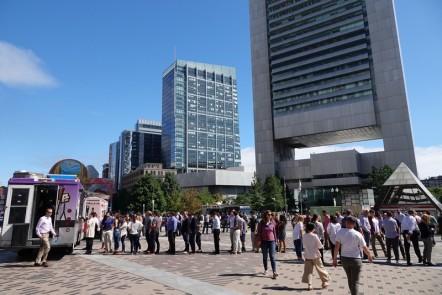 Boston - Greenway Rose Kennedy - Longue queue devant les foodtrucks !