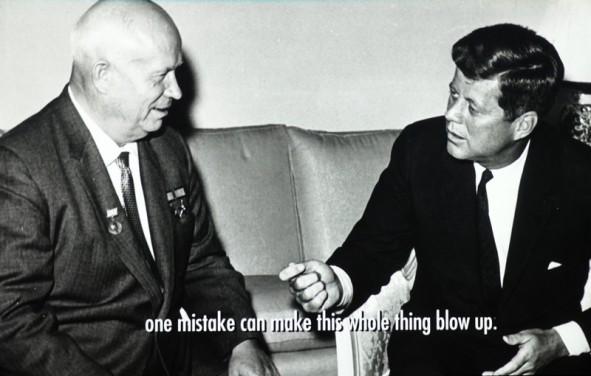 Boston - John F. Kennedy Presidential Library and Museum - Avec Kroutchev, pendant la crise des missiles de Cuba en 1961