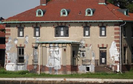 New York - Ellis Island, bâtiment désafecté