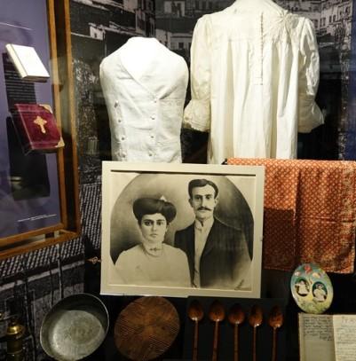 New York - Ellis Island, objets apportés par les migrants
