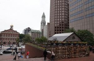 Boston - Freedom Trail - Non loin de la Old State House