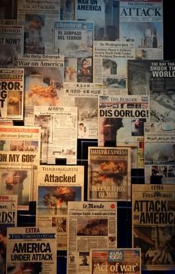New York - 9/11 Museum - Une des journeaux du monde entier