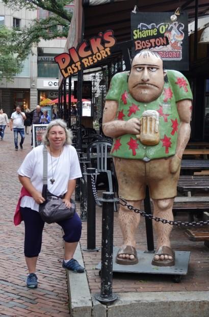 Boston - Freedom Trail - Quincy Market - Gérard a beaucoup changé depuis son arrivée aux US !