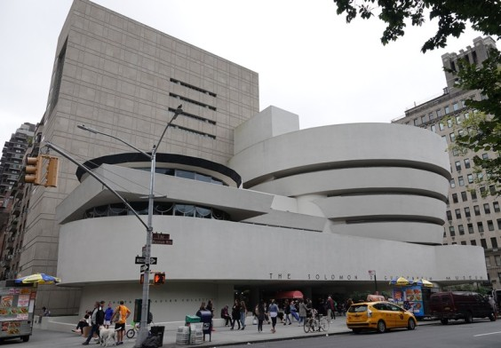 New York - Upper East Side - Extérieur du Musée Guggenheim