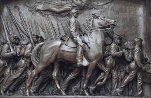 Boston - Freedom Trail - Commémoration du 1er bataillon de Noirs engagés dans la guerre de Sécession