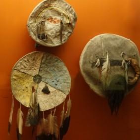 New York - American Museum of Natural History - Vitrines ethnologiques présentant la culture amérindienne