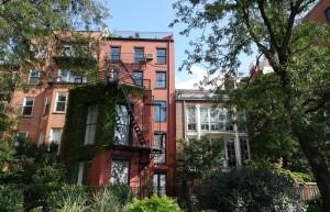 Brooklyn - Vue sur les belles maisons depuis la promenade Brooklyn Heights