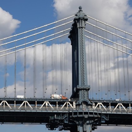 Depuis Brooklyn, vue sur Manhattan Bridge