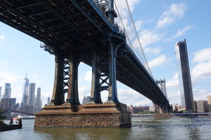Depuis Brooklyn, vue sur Manhattan Bridge