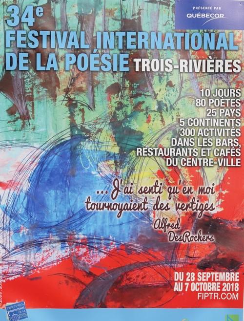 Trois Rivières - Capitale mondiale de la Poésie - 34e Festival international de Poésie