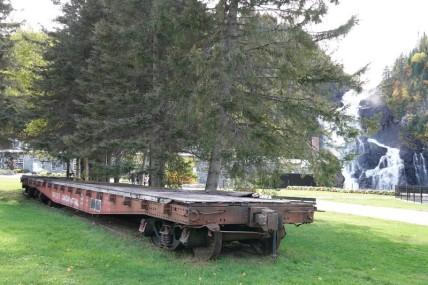 Village historique de Val Jalbert - Devant l'usine