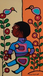 Musée amérindien de Mashteuiatsh - Salle consacrée aux artistes amérindiens - Norval Morrisseau
