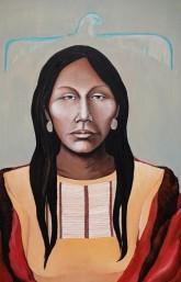 Musée amérindien de Mashteuiatsh - Salle consacrée aux artistes amérindiens - Sarah Cleary