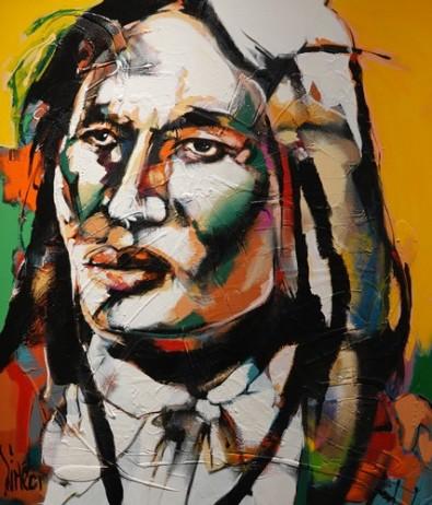 Musée amérindien de Mashteuiatsh - Salle consacrée aux artistes amérindiens - Marc Simeon