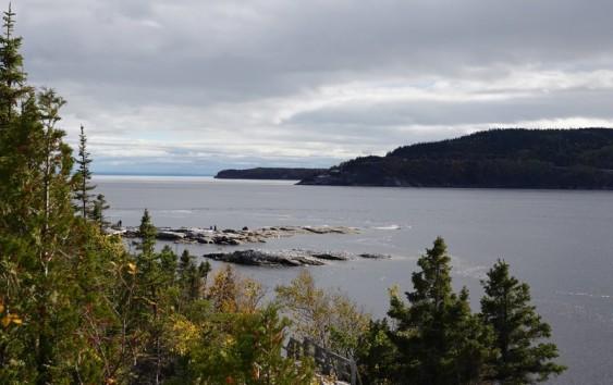 Tadoussac - Non loin du sentier de la Pointe de l'Islet - Embouchure du fjord