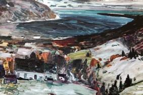Baie Saint Paul - Toile de René Richard