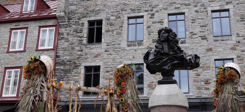 Québec - Place Royale - Buste de Louis XIV