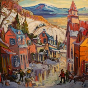 Trois Rivières - Musée Pierre Boucher - Tableau de Normand Boisvert