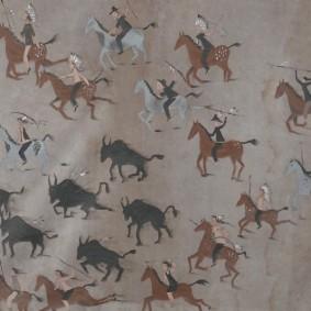 Site Traditionnel Wendat-Huron - Peinture sur toile tendue