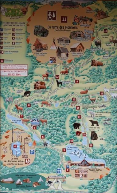 Parc Omega - Plan du site