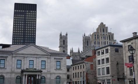 Montréal - Vieille ville - Au premier plan, l'ancienne douane