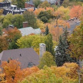 Montréal - Mont Royal - Vue depuis le Belvédère Kondiaronk