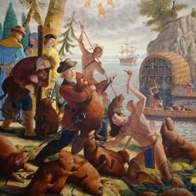Montréal - Musée des Beaux-Arts - Oeuvre de 2011 de Kent Monkman - Les castors du Roi