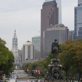 Philadelphie - Vue sur Benjamin Franklin Parkway