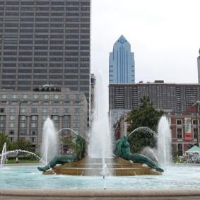 Philadelphie - Vue depuis Benjamin Franklin Parkway