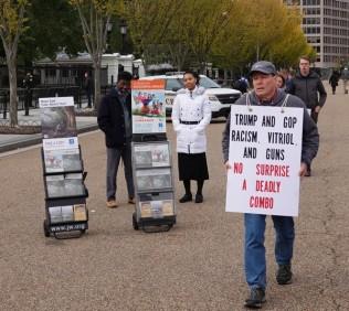 Washington - Maison Blanche - Manifestant... recto !