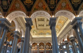 Washington - Capitole - Bibliothèque du Congrès