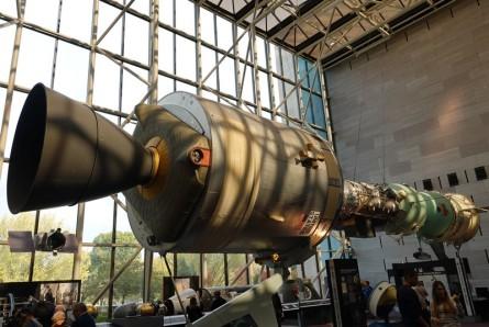 Washington - Air and Space Museum - Maquette de station orbitale
