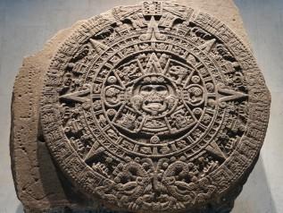 Mexico - Museo Nacional de Antropologia - Pierre du Soleil, calendrier aztèque