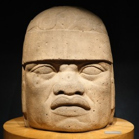 Mexico - Museo Nacional de Antropologia - Tête colossale olmèque