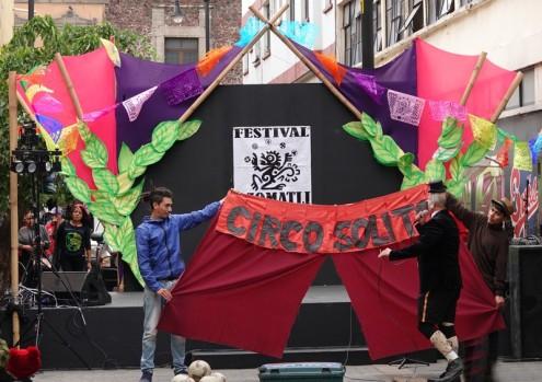 Mexico - Quartier historique - Cirque de rue