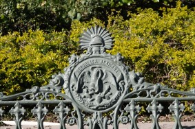 Querétaro - Jardin Zenea, détail d'un banc