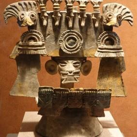 Mexico - Museo Nacional de Antropologia - Brasero en argile