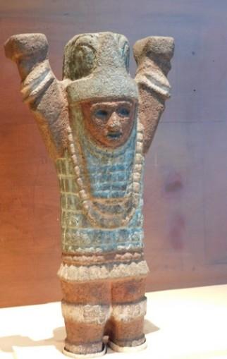 Mexico - Museo Nacional de Antropologia - Guerrier toltèque polychrome