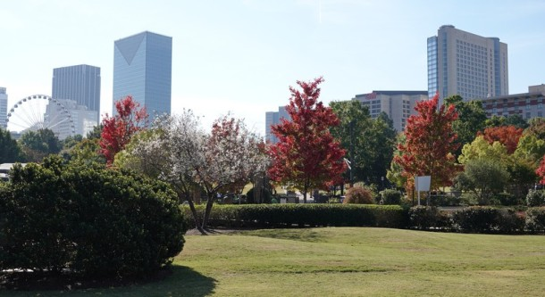 Atlanta - Esplanade non loin du Centennial Olympic Park