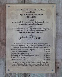 Plantation Laura - Inventaire d'esclaves