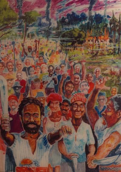 Bâton-Rouge - Capitol Park Museum - Révolte d'esclaves au début du XVIIIe siècle