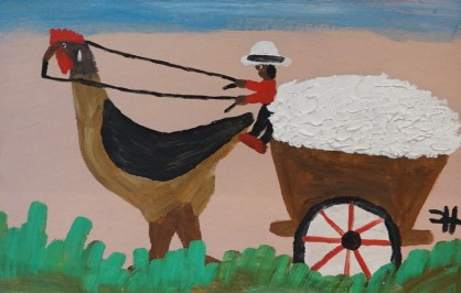 Bâton-Rouge - Capitol Park Museum - Oeuvre de Clémentine Hunter, artiste autodidacte dont le père fut esclave...